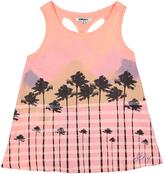 DKNY Neon Peach Malibu Twist-Back Tank - Girls