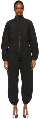 AGOLDE Black Marin Utility Zip Jumpsuit
