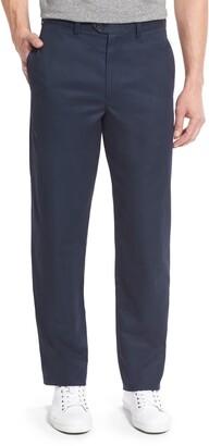 Nordstrom Smartcare(TM) Classic Supima(R) Cotton Flat Front Straight Leg Dress Pants