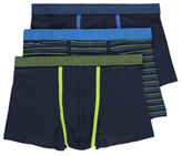 George 3 Pack Assorted Hipster Trunks