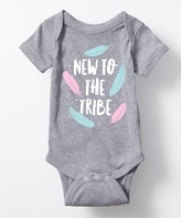 Athletic Heather 'New to the Tribe' Bodysuit - Infant