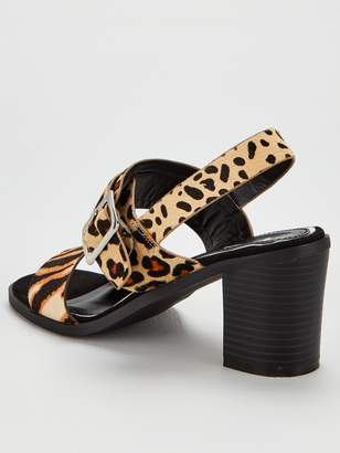 Very Bolton Real Leather Heeled Sandals - Animal Print