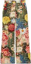 Gucci Impressionist garden wide leg pant