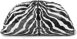 Bottega Veneta The Pouch Clutch in Zebra & Silver | FWRD