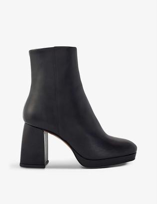Maje Fara heeled leather ankle boots