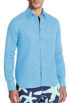 Vilebrequin Linen Button-Down Shirt