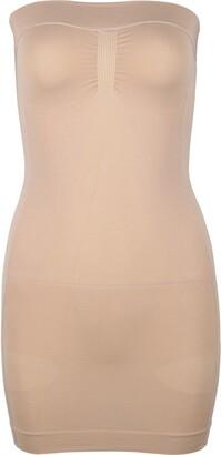 iiniim Women Full Slips Body Shaper Seamless Shapewear Strapless Slimmer Under Dress Nude S/M