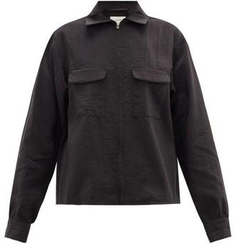 Lemaire Flap-pocket Silk-blend Shirt - Womens - Black