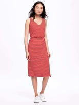 Old Navy Side-Slit Jersey Midi Dress for Women