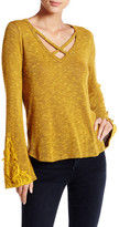 Blu Pepper Criss-Cross Strap Long Sleeve Sweater