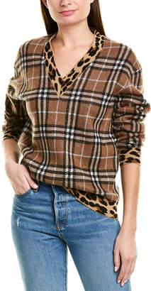 Burberry Vintage Check Cashmere & Mohair-Blend Sweater