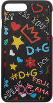 Dolce & Gabbana Black Graffiti Logo iPhone 8 Plus Case