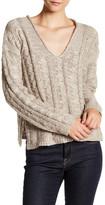 John & Jenn Long Sleeve Ribbed V-Neck Knit Sweater