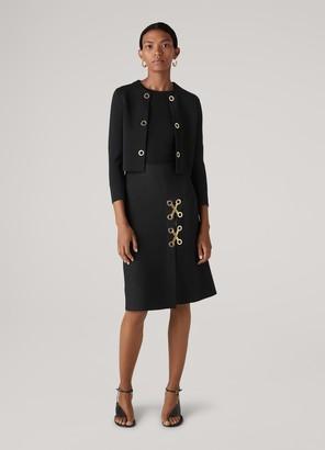 St. John Viscose Milano Knit Grommet Jacket