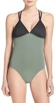 Zella Colorblock One-Piece Swimsuit