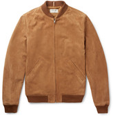 A.p.c. - + Louis W The Ferris Suede Bomber Jacket