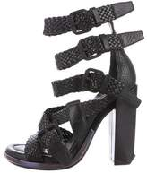 Alexander Wang Woven Leather Ankle Strap Sandals