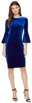 Calvin Klein Bell Sleeve Velvet Sheath CD7V133E Women's Dress