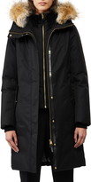 Mackage Harlowe-CR Luxe Down Coat with Removable Bib & Genuine Coyote Fur Trim