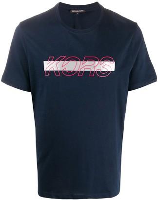 Michael Kors strikethrough logoT-shirt