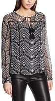 Le Temps Des Cerises Women's Multi-Coloured Long Sleeve Vest - Black