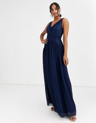 Little Mistress v neck maxi dress