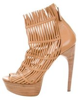 Alexander McQueen Caged Platform Ankles Boots