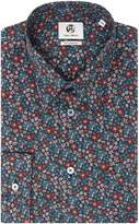 Paul Smith Men's Formal Long Sleeve Floral Print Shirt