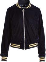 Steve Madden Navy Velour Bomber Jacket