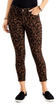 Style&Co. Style & Co Leopard-Print Curvy Skinny Jeans, Created for Macy's