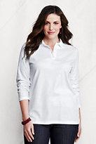 Classic Women's Plus Size Pima Polo Shirt-White