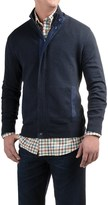 Viyella Mock Neck Cardigan Sweater - Zip Front (For Men)