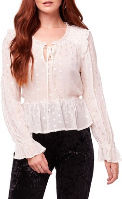 B.O.G. Collective Diane Textured Sheer Blouse