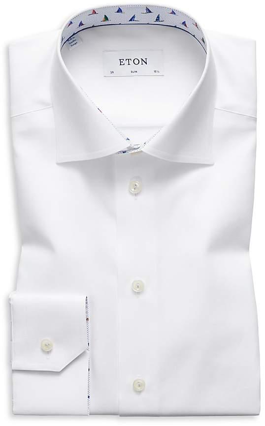 Eton Sailboat Trim Slim Fit Dress Shirt