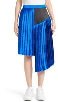 Public School Women's Asymmetrical Pleated Silk Skirt