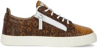 Giuseppe Zanotti Nicki lizard-print leather sneakers