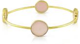 Sofia B 16 CT TW 13 mm Rose Quartz 22K Gold-Plated Goldtone Bangle Bracelet