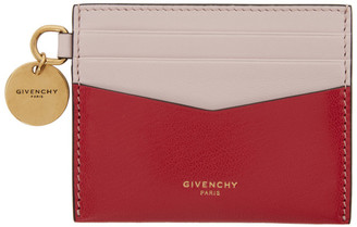 Givenchy Pink and Red Two-Tone Edge Card Holder