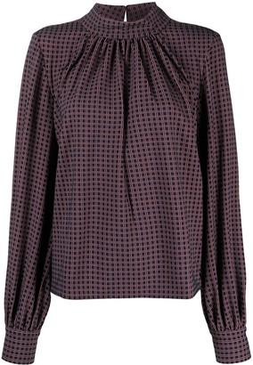 Stine Goya Eddy check print blouse