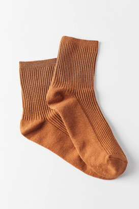 Urban Outfitters Basic Ribbed Crew Sock