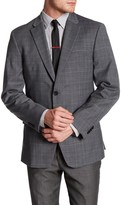 Tommy Hilfiger Grey Plaid Windowpane Two Button Notch Lapel Sport Coat