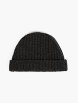 Marni Grey Ribbed Wool Beanie Hat