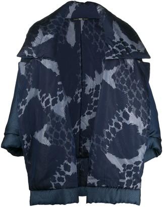 Gianfranco Ferré Pre-Owned 1990s Leopard Print Oversized Puffer Jacket