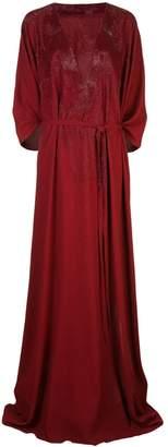 Oscar de la Renta kaftan gown with sequins