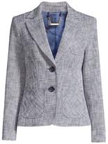 Trina Turk Jet Set Jungle Opulent Two-Button Twill Jacket