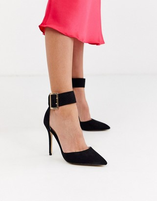 Lipsy cuffed court shoe with bukle detail in black
