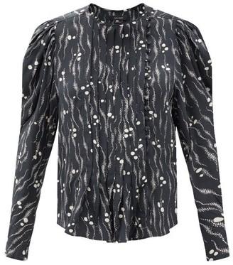 Isabel Marant Bayos Abstract-print Silk Crepe De Chine Blouse - Black Print