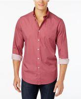 Club Room Men's Micro-Diamond Print Shirt with Pocket, Created for Macy's