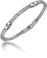Orlando Orlandini Capriccio - Diamond 18K White Gold Chain Snake Bracelet
