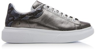 Moda In Pelle Brittany Pewter Leather